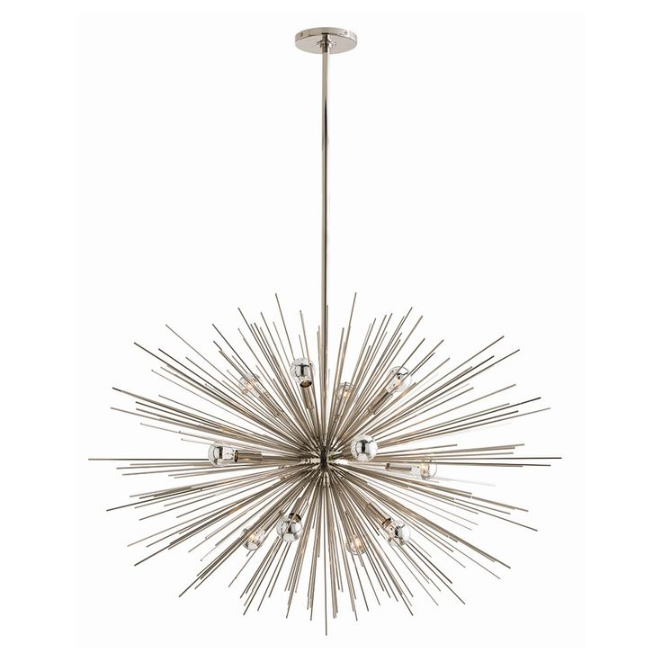 Off zanadoo polished nickel 12 light large pendant by arteriors home it was so popular we made the spokes longer to give it more volume
