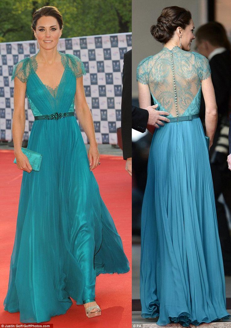 Kate-Middleton-Duchess-Cambridge-stunning-teal-dress-London-Olympic-gala-concert.