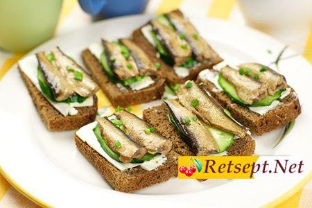 Бутерброды со шпротами фото рецепт