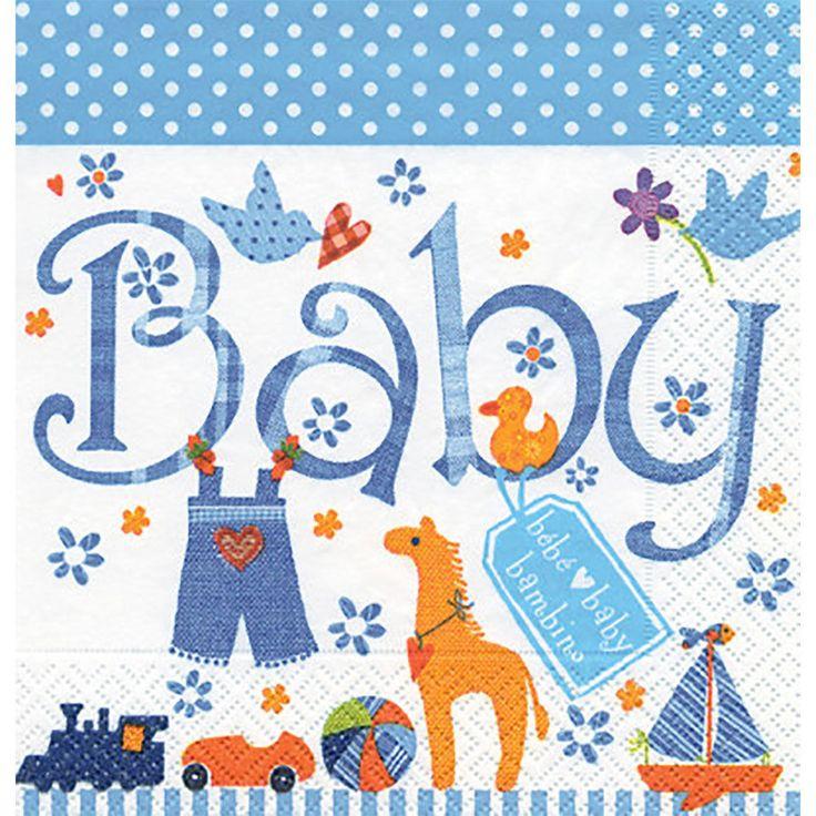Geboortekaartje maken met servetten techniek - Hobby.blogo.nl