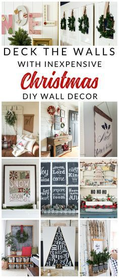 Deck the halls this holiday season with inspiring DIY Christmas wall decor projects. These Christmas decorating ideas are simple, cheap, and gorgeous, so come check them out! #Christmas #ChristmasDecor #DIYChristmas