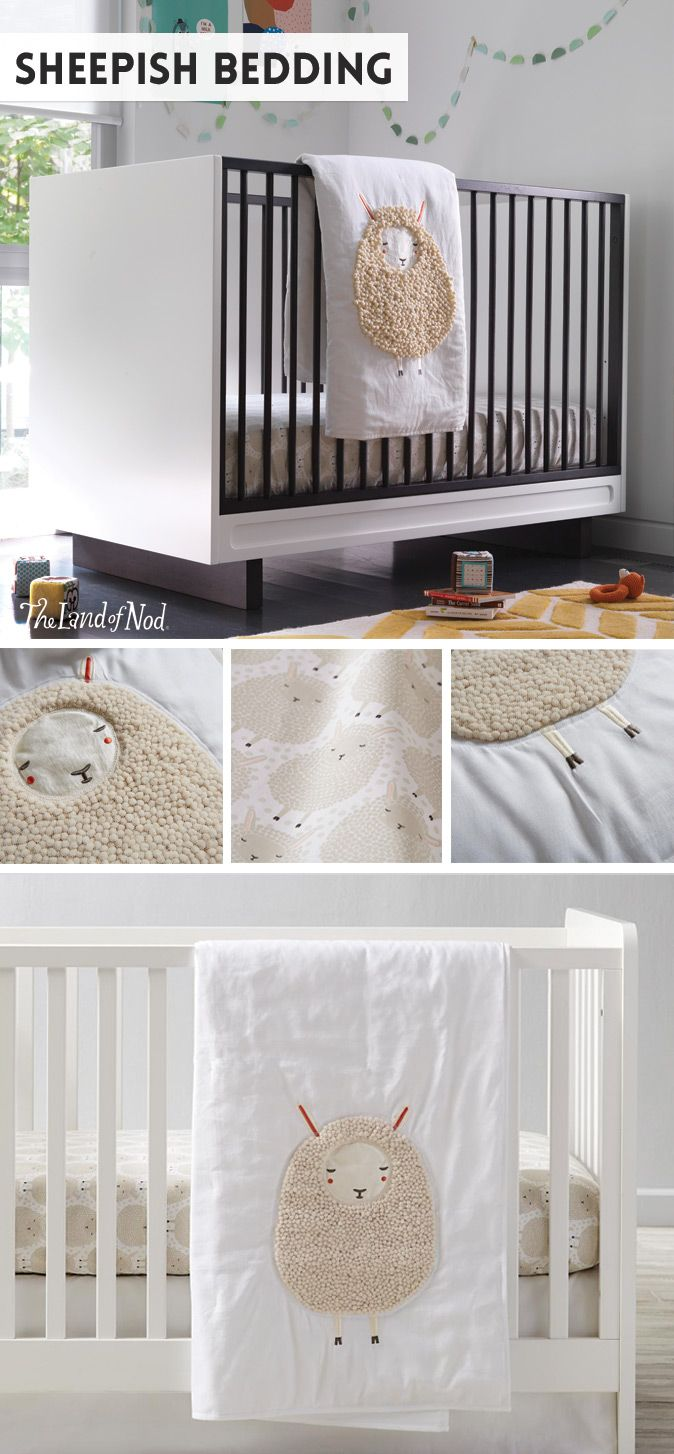 Our Sheepish Crib Bedding Features An Adorable Liquéd Sheep Baby Quilt And Matches Flock Of Sheets