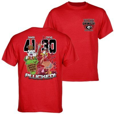 Georgia Bulldogs vs. South Carolina Gamecocks 2013 Score T-Shirt - Red