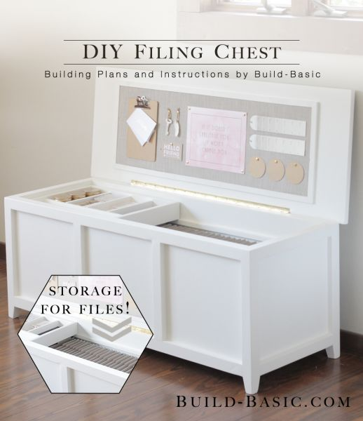 Build a DIY Filing Chest - Building Plans by @BuildBasic www.build-basic.com