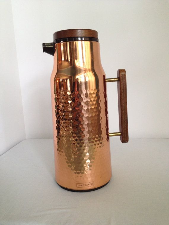 copper coffee pot carafe thermos by corning designs pots copper and carafe. Black Bedroom Furniture Sets. Home Design Ideas