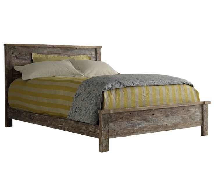 hampton rustic teak wood california king bed frame