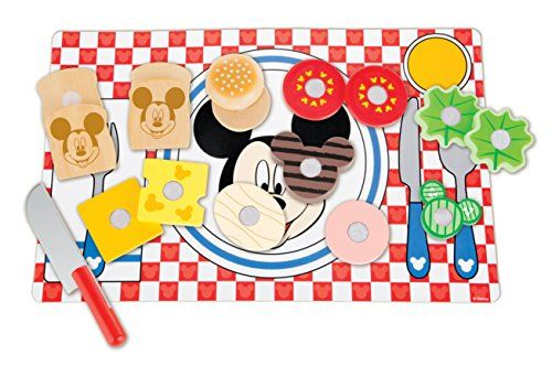 Melissa & Doug Disney Mickey Mouse Clubhouse Wooden Sandwich-Making Play Food Set Reviews
