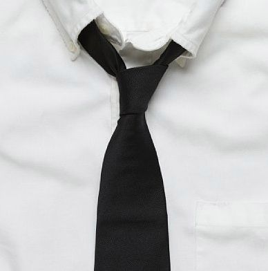 Máni - white shirt, black tie
