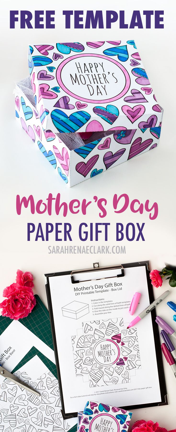 How to make scrapbook using illustration board - How To Make A Paper Gift Box