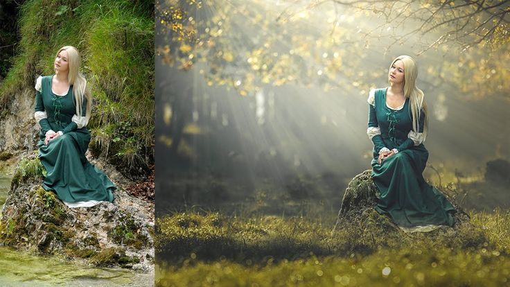 Photoshop CC Tutorial Photo Manipulation with Light Rays Effect