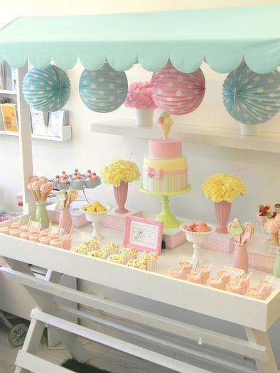 Ice Cream Party Theme . . . Dessert Table