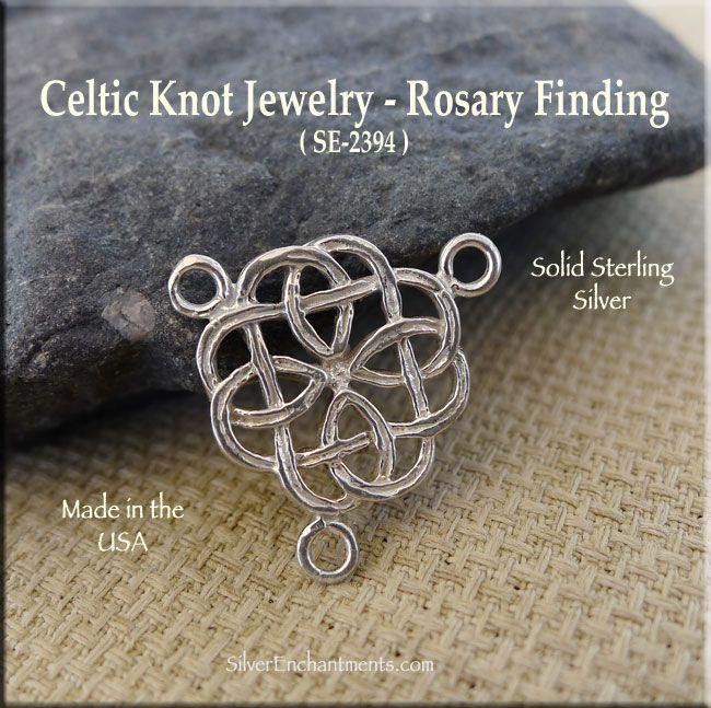 Sterling Silver Celtic Rosary Or Y Necklace Finding