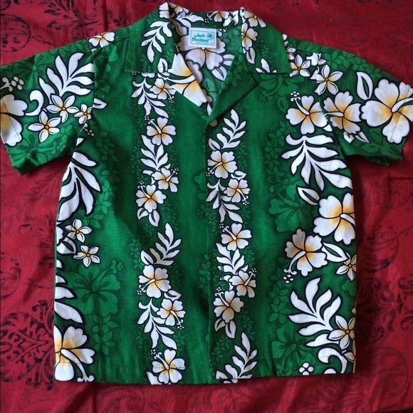 Boy Hawaiian shirt Hawaiian shirt for boy worn only once for graduation theme Tops