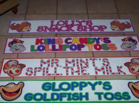 Candyland signs for around the room
