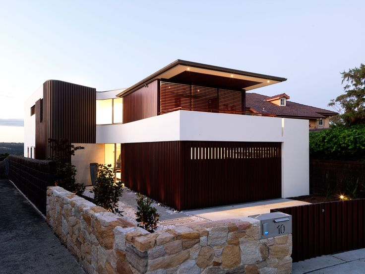 Best Luxury Homes  Modern Exterior House MANSION - Modern exterior house design with stone