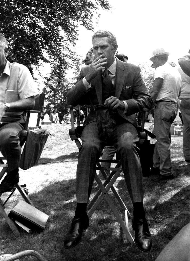 Steve McQueen   Back Set of The Thomas Crown Affair   1968   as Thomas Crown