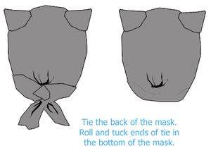 Catwoman mask pattern and how-to. Get a free pattern and step-by-step photo tutorial on how to make a Catwoman mask at home.: Try the Mask On for Size