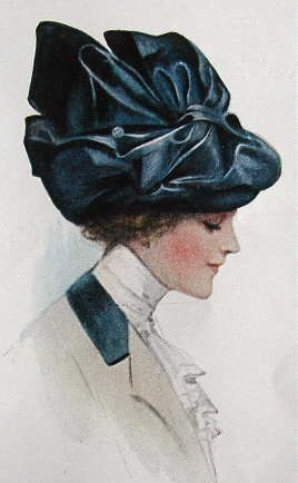 Ladies Home Journal, 1910.  I want this hat!  I wish I'd learned millinery a long time ago!