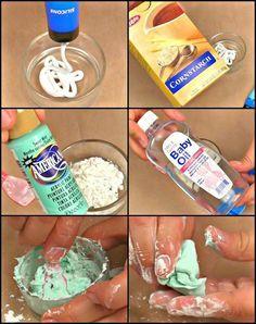 Cómo hacer moldes de silicona. Variante utilizando aceite de bebé