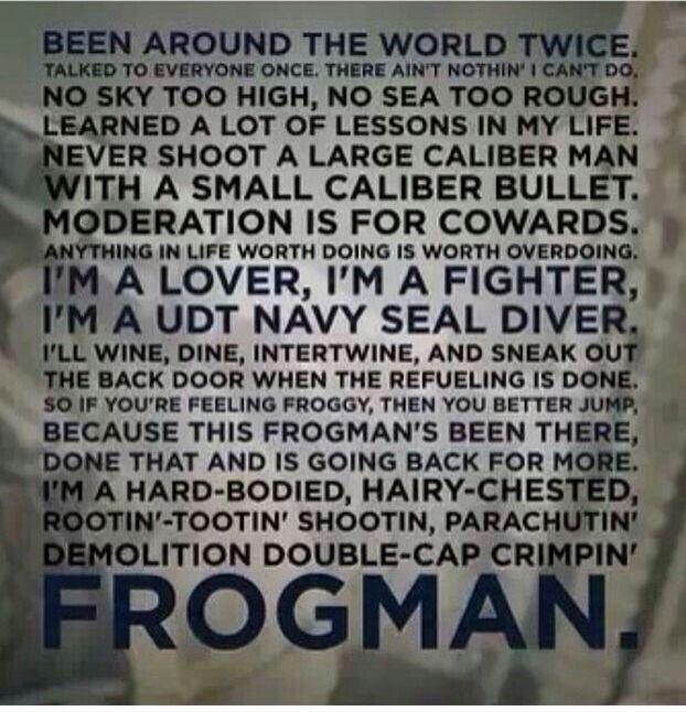 Navy Seal Frogman Ballad Lone Survivor Quotes Quotesgram