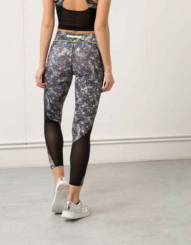 Leggins Bershka estampado flores - Sport Start Moving - Bershka España