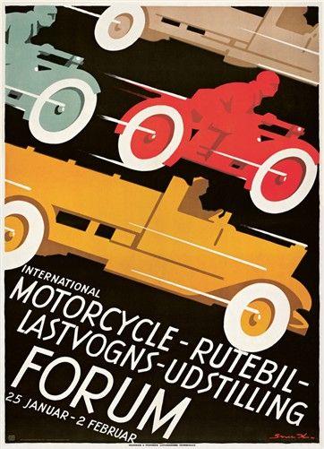 Sven Henriksen, Motorcycle rutebil og lastvogns udst., 1930