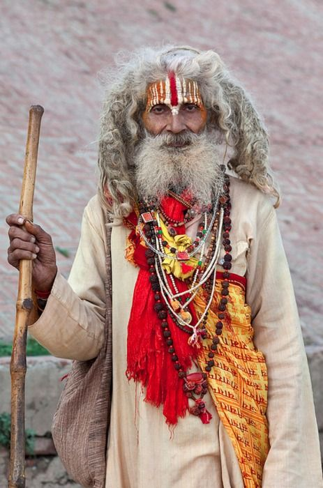 Sadhus are 'holy men' of the Hindu faith, who renounce all worldly attachments and desires as a way to help them break free from the cycle of being reborn into a lower caste system.