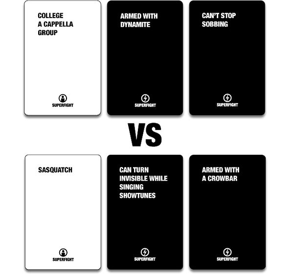 """has anyone played the party game """"superfight"""" like cards"""