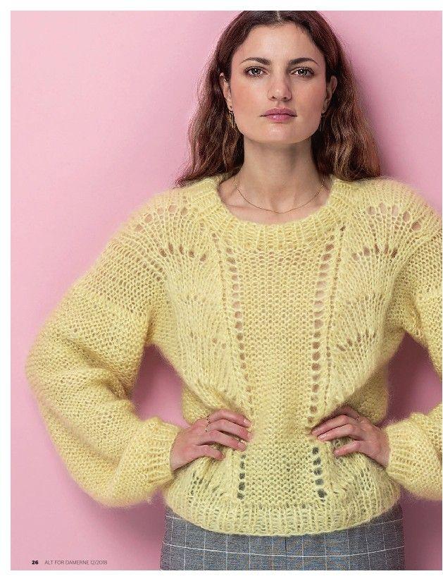 21dc5df6 ALT for damerne | crochet & knit | Strikkeopskrift trøje ...