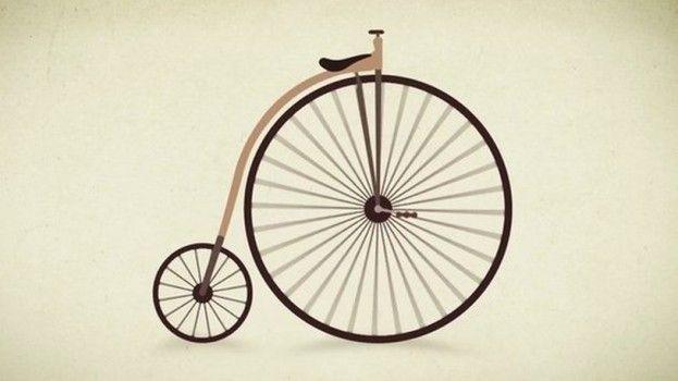 De evolutie van de fiets in een prachtige animatie