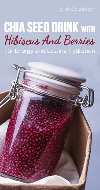 "Better than a sports drink. ""Chia Seed Drink With Hibiscus And Berries For Energy and Lasting Hydration"""