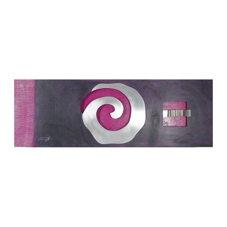 Cuadro espiral metalica morado - cuadros y decoracion Cuadrangulo