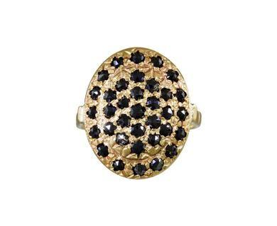 Arik Kastan   Black Diamond Cluster Ring in Designers Arik Kastan Rings at TWISTonline