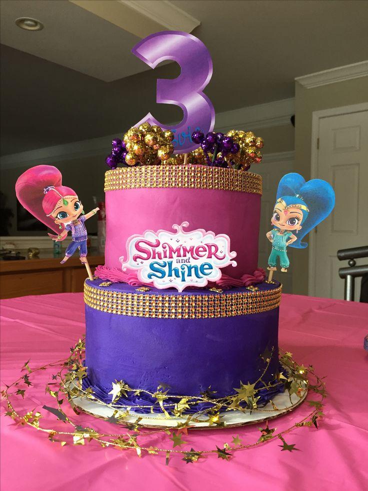 17 best images about festa shimmer e shine on pinterest for Art cake decoration