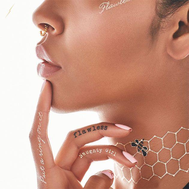 Para quem quer diversificar nas jóias! Coleção flash tattoos de Beyoncé.