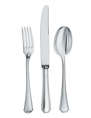 Collection Ottagonale Set 3 pieces:fork, knife, spoon Sterling Silver Zaramella Argenti #zaramellaargenti #zaflatware