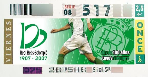 Diseño del cupón de la Once conmemorativo al Centenario del Real Betis. Más en http://www.lacaseta.com/100-aniversario-real-betis-balompie/ #Betis #ideas #fútbol #creatividad #design #diseno