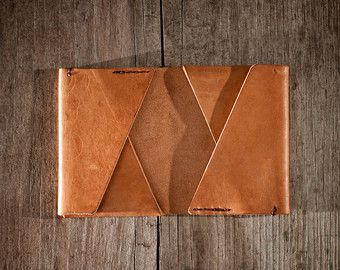 Men Leather Wallet Men wallet / cardholder by NadaliniLeather