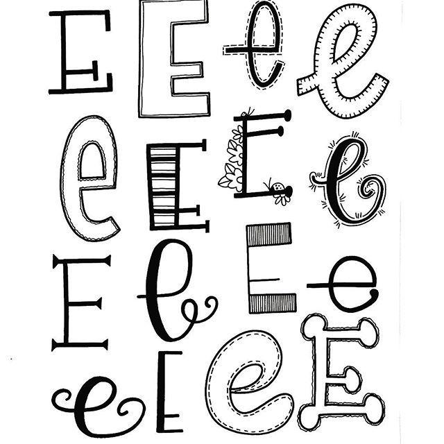 Handlettering E
