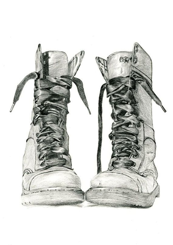 Image result for girl hiking boots drawing