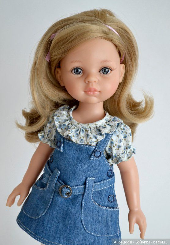 Сарафан на куколок от Паола Рейна / Одежда для кукол / Шопик. Продать купить куклу / Бэйбики. Куклы фото. Одежда для кукол