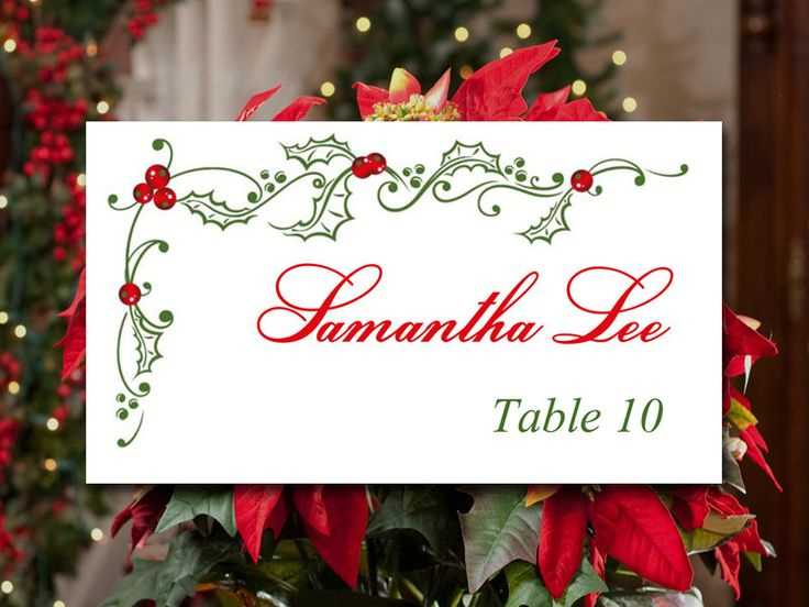 30 best images about holiday weddings on pinterest for Table placement cards templates