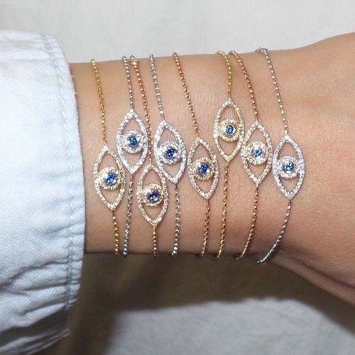 Turquoise and gold evil eyes- Evil eye jewelry bracelets…