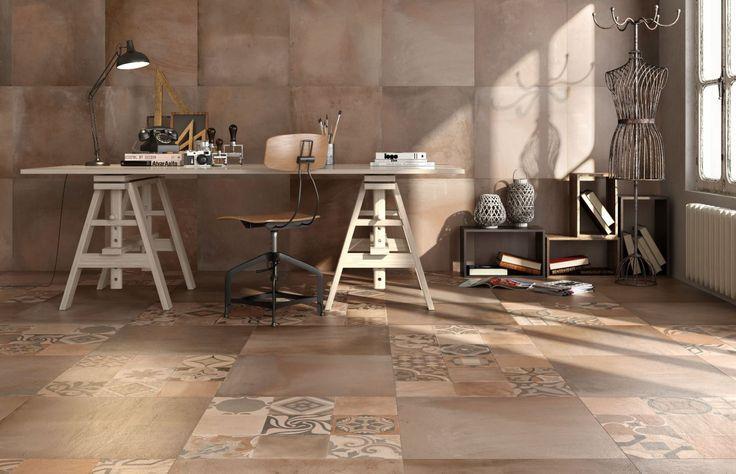 Moderne terra cotta in 60x60 met bijpassende decortegels tegelhuys cotto tegels pinterest - Tegels van cement saint maclou ...