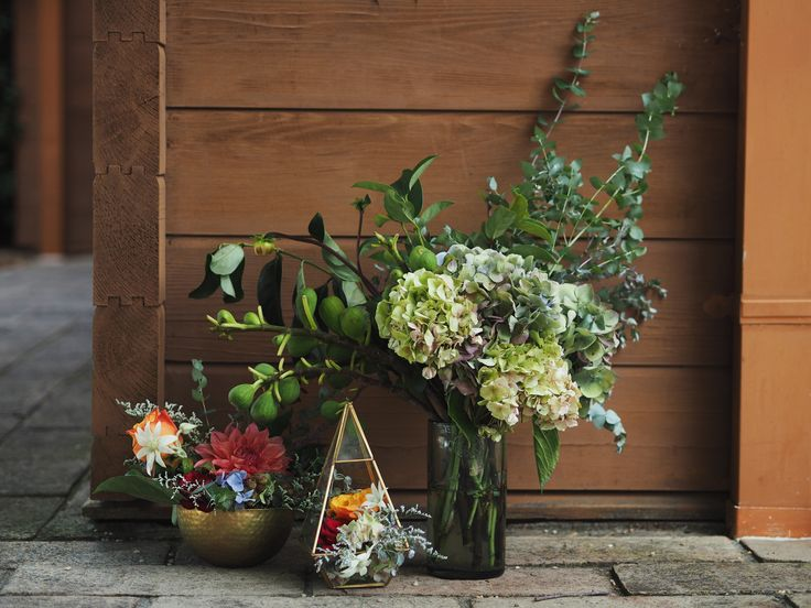 Antique hydrangeas with colourful, tropical styled blooms | Sydney florist | wedding inspiration | floral styling | table arrangements | Hunter Gatherer Florist