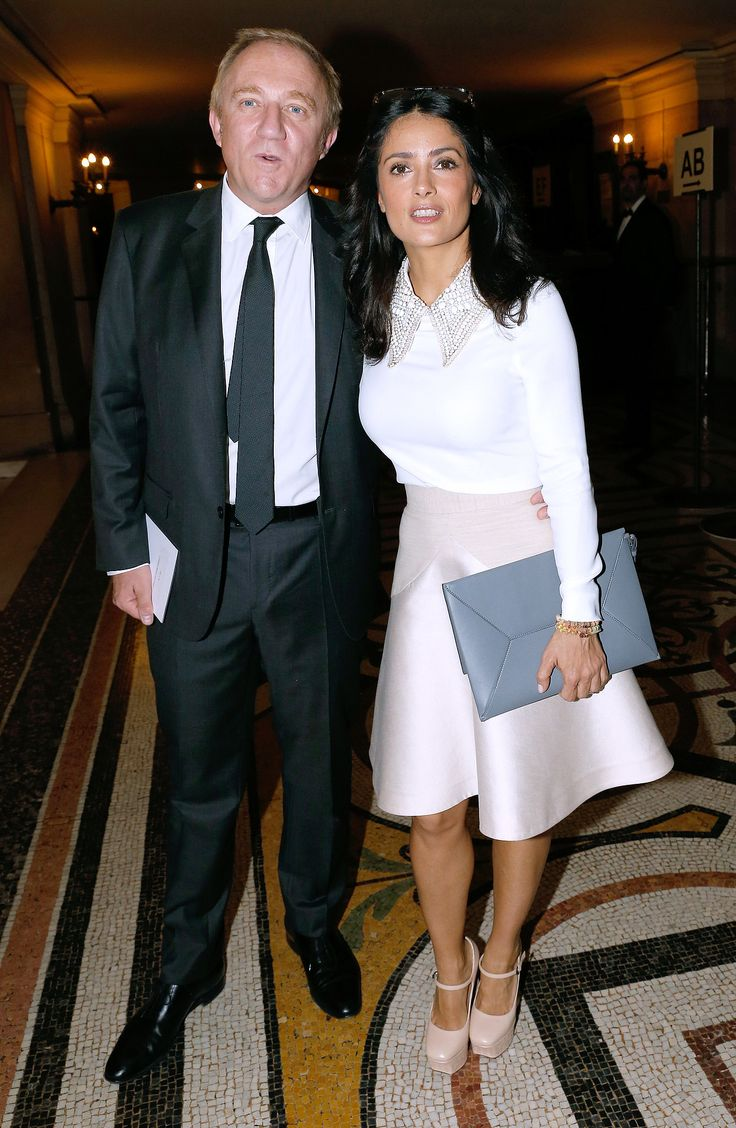 Salma Hayek and Francois-Henri Pinault attended Stella McCartney's show on Monday.