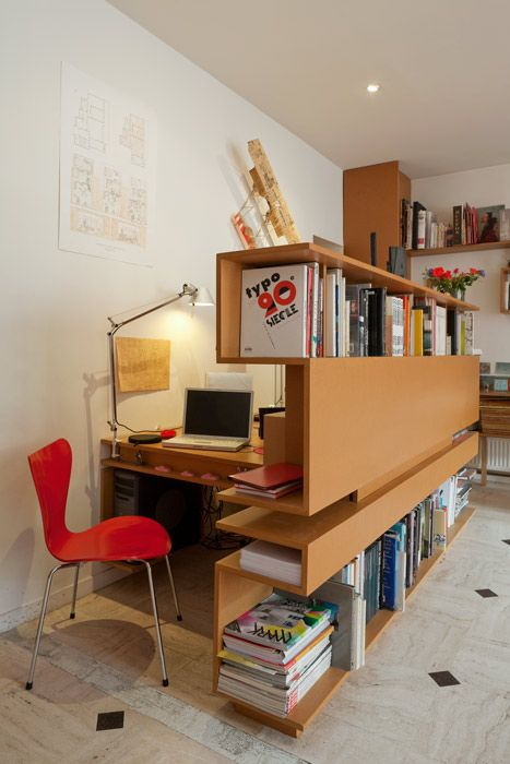 The Hidden-Behind-Books Home Office