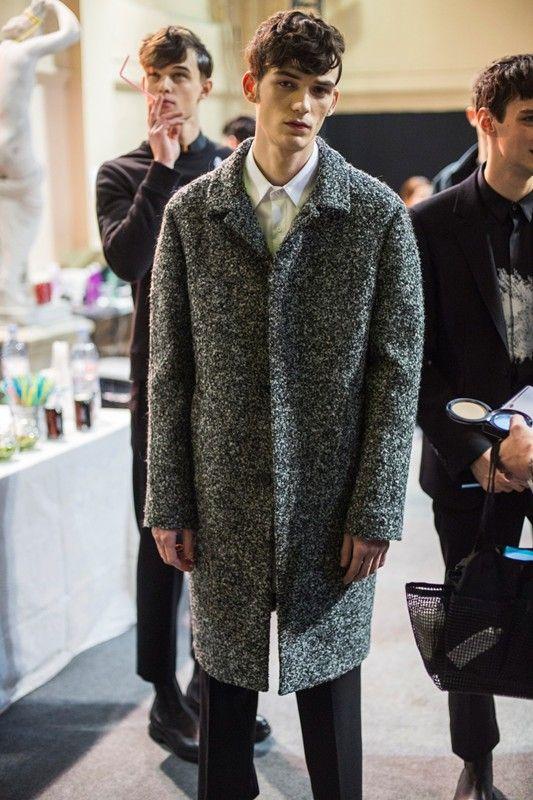 Oversized mottled grey coat at Wooyoungmi AW14: http://www.dazeddigital.com/fashion/article/18499/1/wooyoungmi-aw14