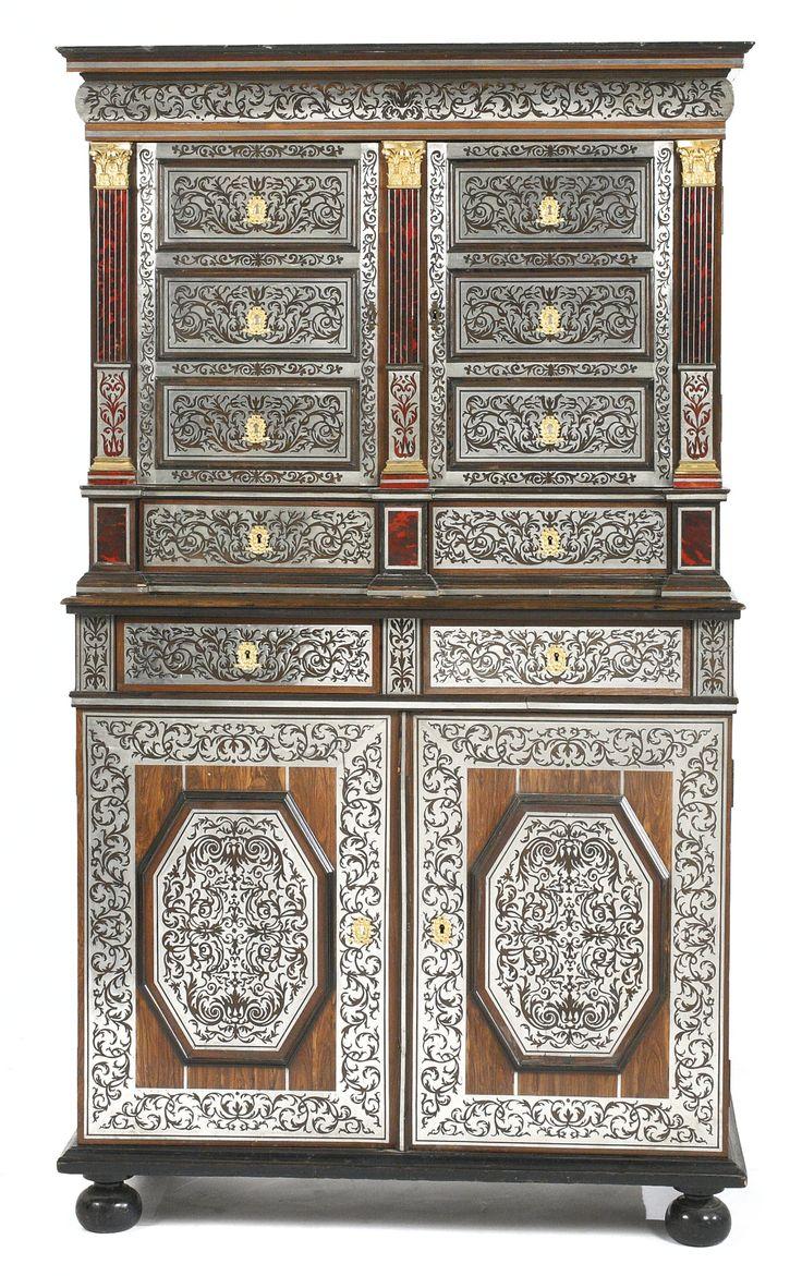 Louis Xiv Furniture Characteristics - A louis xiv ormolu mounted pewter and tortoiseshell inlaid kingwood and ebony cabinet en