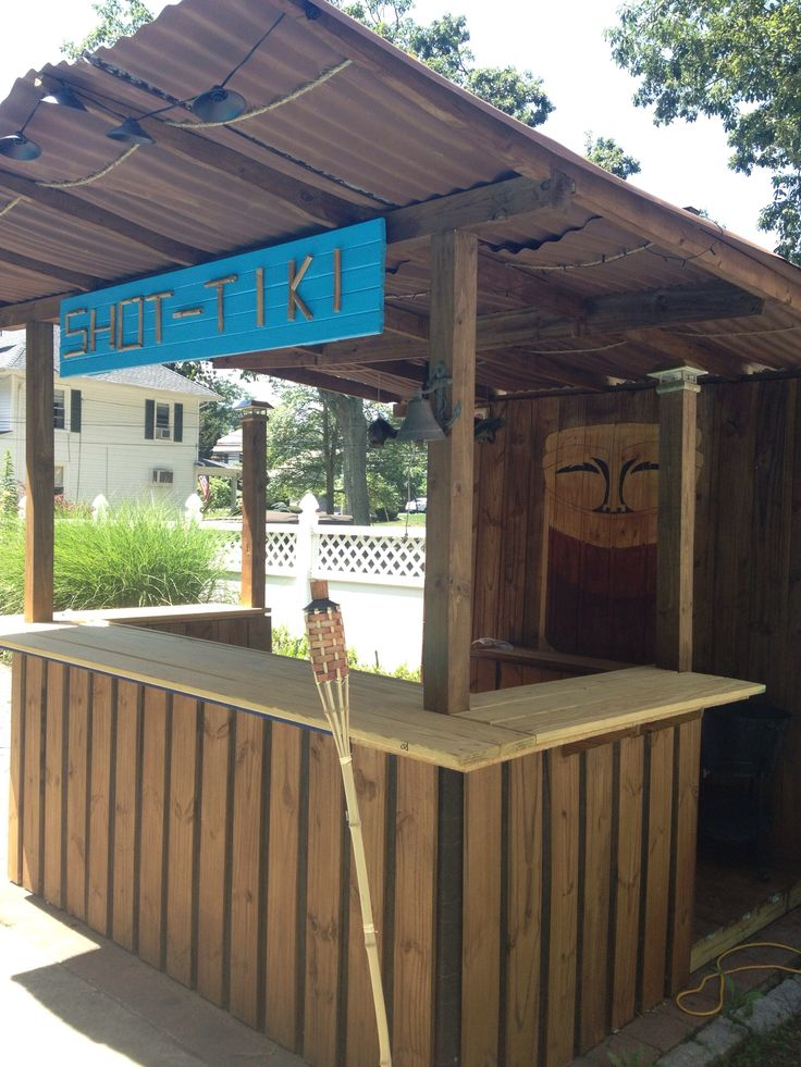 diy tiki bar my hubby built things i want in my backyard pinterest bar love the and names. Black Bedroom Furniture Sets. Home Design Ideas